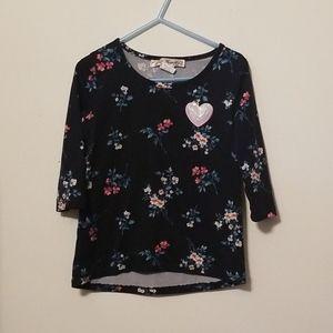 Magenta floral top